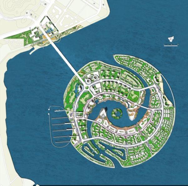 中外景观设计-漳州双鱼岛概念园林规3d建设大赛图片